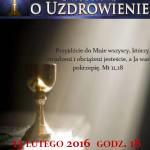 Msza o uzdrowienie - plakat