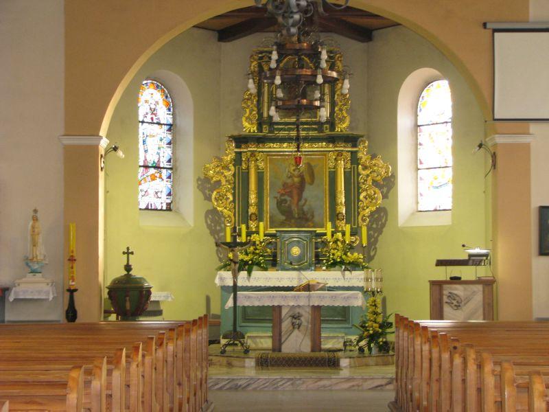 Wnętrze kościoła 2011